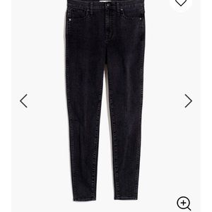 Madewell High-Rise Skinny Jeans in Eclipse Wash